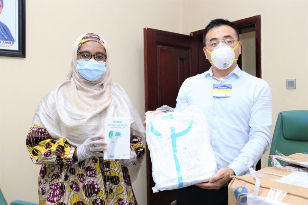 Chinese Firms Donate Covid-19 Protective Kits to Honourable Minister 3