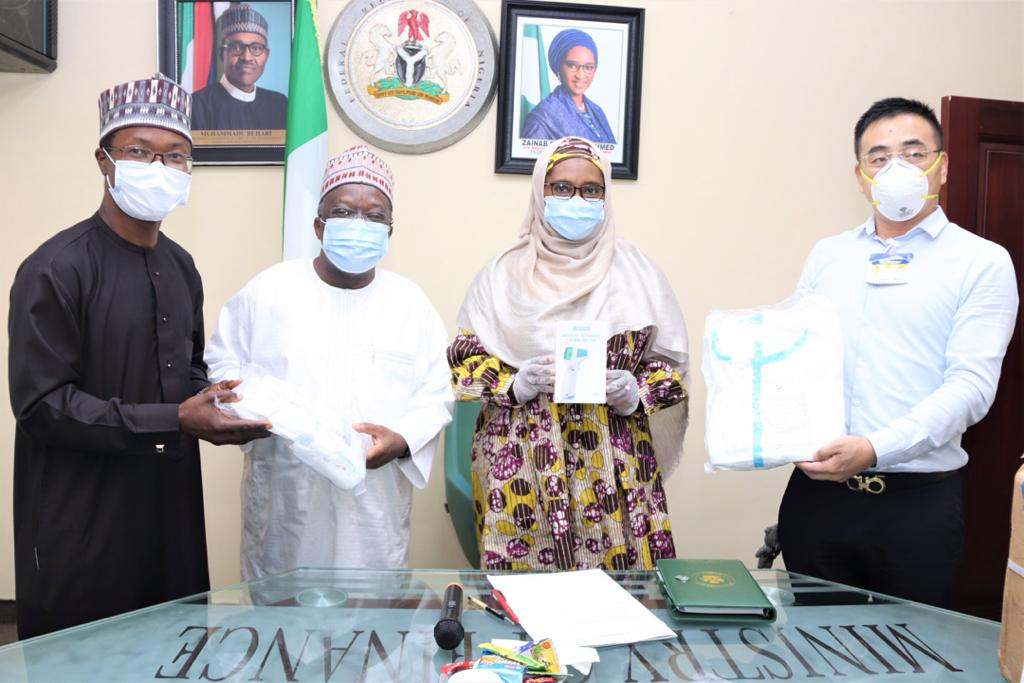 Chinese Firms Donate Covid-19 Protective Kits to Honourable Minister